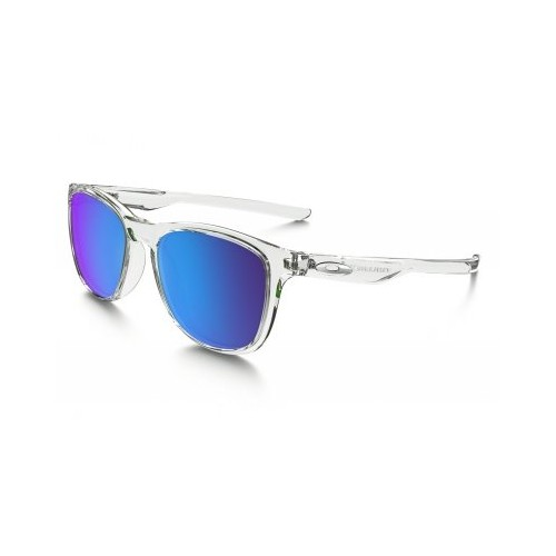 Lunettes OAKLEY Trillbe X Polished Clear / Saphirre Polarized