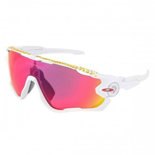 Lunettes OAKLEY Jawbreaker Tour de france Collection - Matte White / Prizm Road