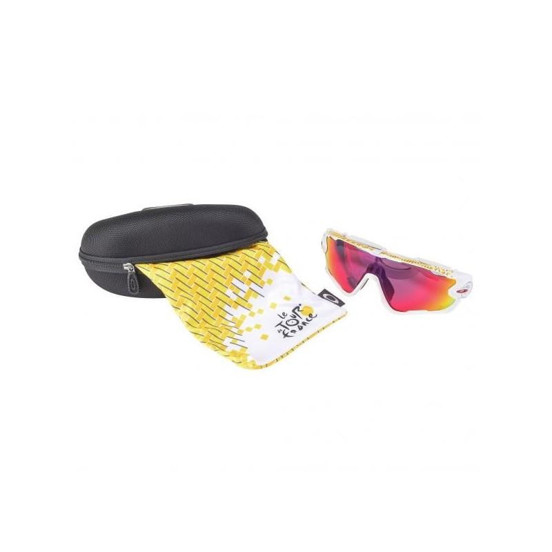 OAKLEY Lunettes Jawbreaker Tour de france  - Matte White / Prizm Road