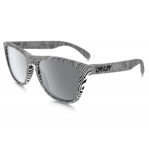 Lunettes OAKLEY Frogskins Fingerprint White / Black Iridium