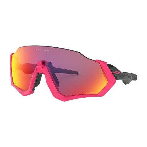 Lunettes OAKLEY Flight Jacket Neon Pink Prizm Road