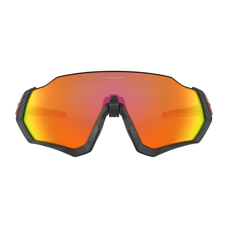 Oakley Lunettes Flight Jacket Black Prizm Ruby Polarized